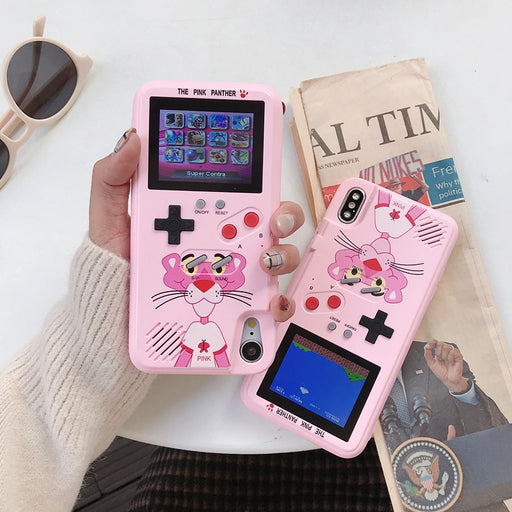 Pink Panther Coque For iPhone Case Color Display Game Console Soft TPU Phone Cover - JJslove.com
