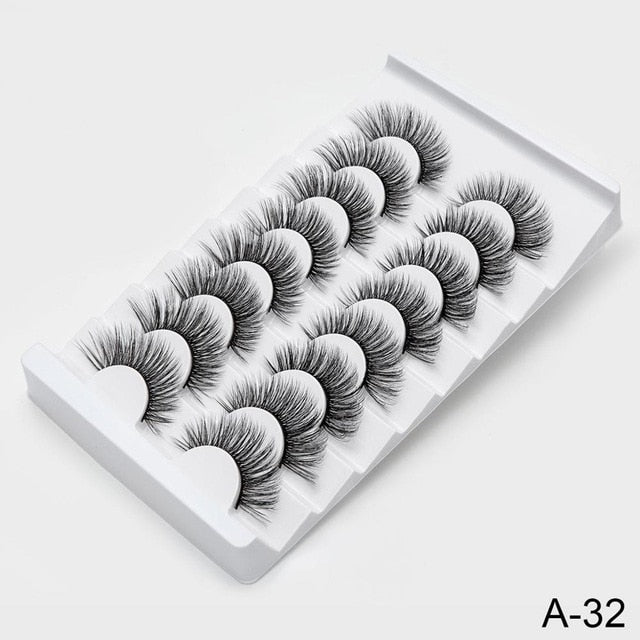 Natural 3D Mink Dramatic Volume Lashes Makeup Eyelashes - JJslove.com