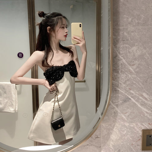 $36.99 Sexy One-shoulder Slim Short Dresses Cute Club Dress Free Shipping Worldwide