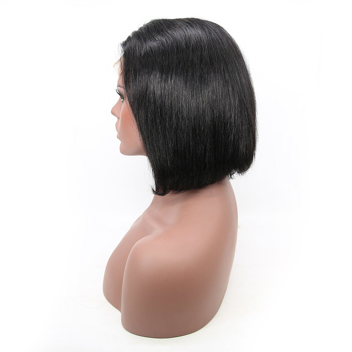 Short Bob Wigs Pre Plucked Hairline With Baby Hair Lace Wigs - JJslove.com