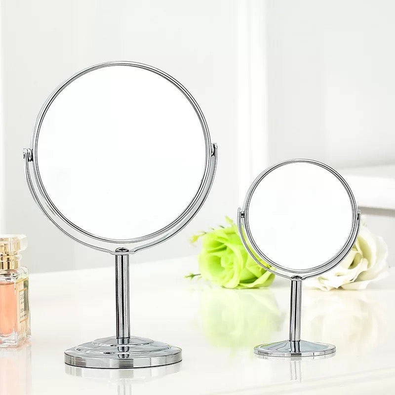 Silver Desk Type Double Side Cosmetic Makeup Mirrors - JJslove.com