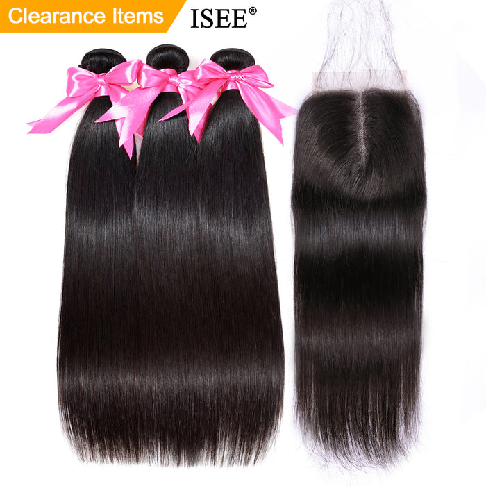 Straight Hair Bundles With Closure Remy Human Hair Bundles With Closure - JJslove.com