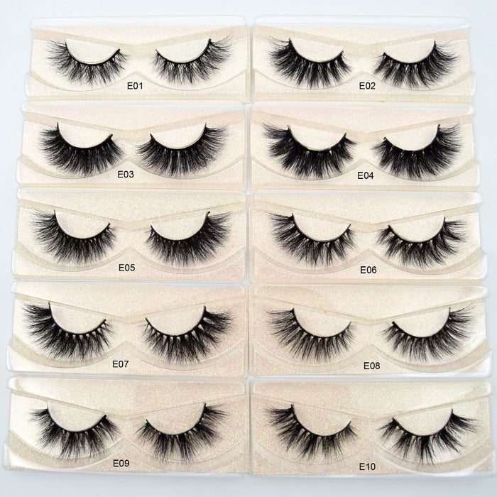 3D Mink Lashes natural handmade  volume soft lashes long eyelash  extension - JJslove.com
