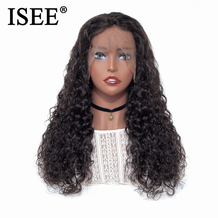 Water Wave Human Hair Wigs 150% Density  Lace Front Human Hair Wigs - JJslove.com