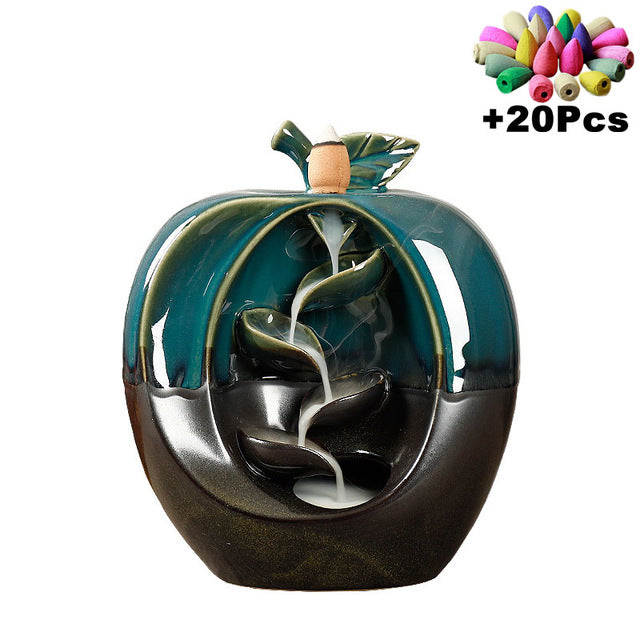 Ceramic Backflow Incense Holder Waterfall Incense Burner - JJslove.com