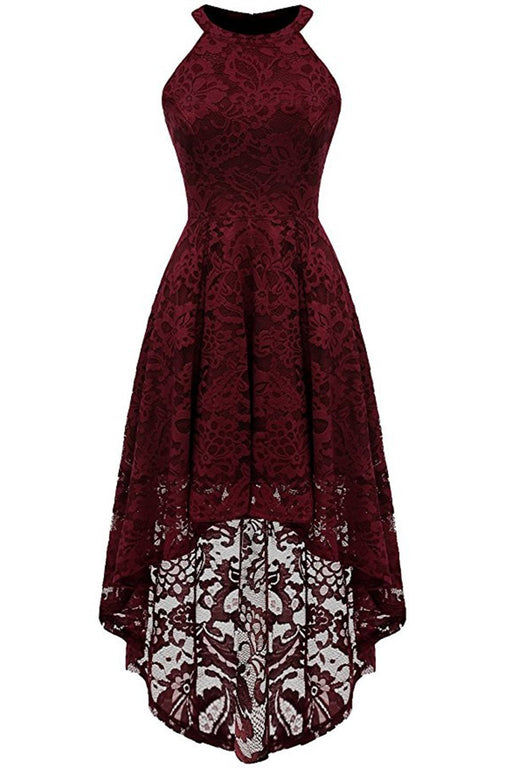 JJslove Casual 1950s High Low Lace Dresses - JJslove.com