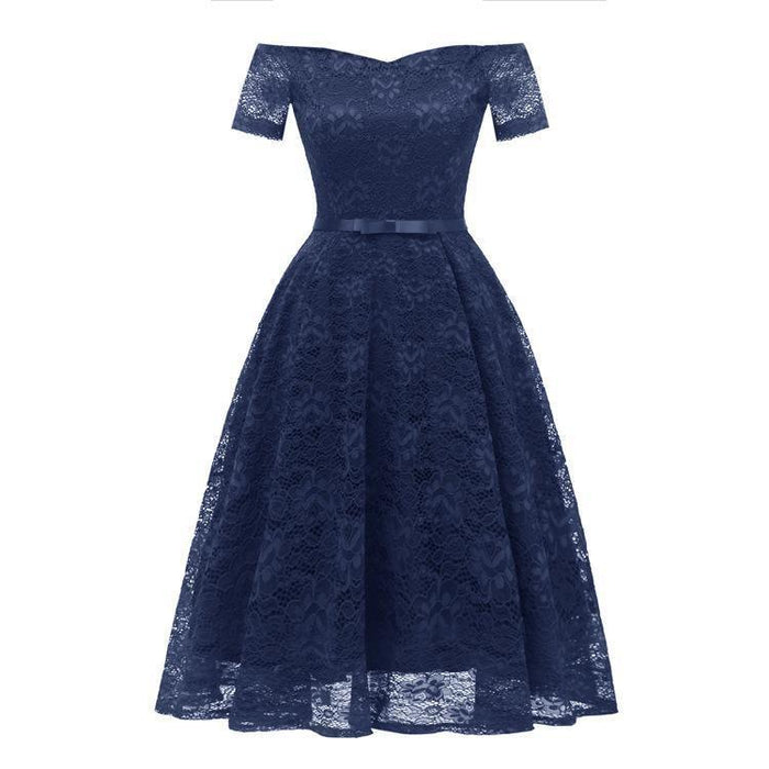 JJslove New A-line Women Lace Street Dress - JJslove.com