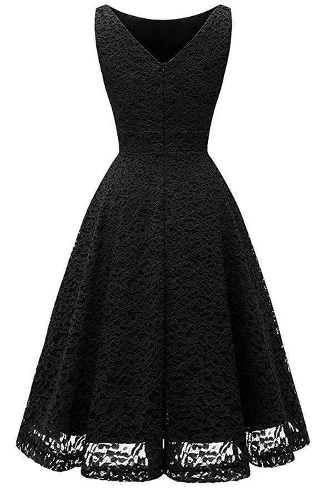 JJslove V-Back Formal Cocktail Party Dress - JJslove.com