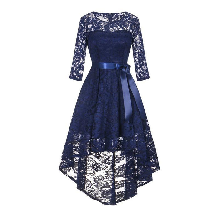 JJslove Women's 1/2 Sleeves Lace Short Prom Formal Casual Swing Party Cocktail Dresses - JJslove.com
