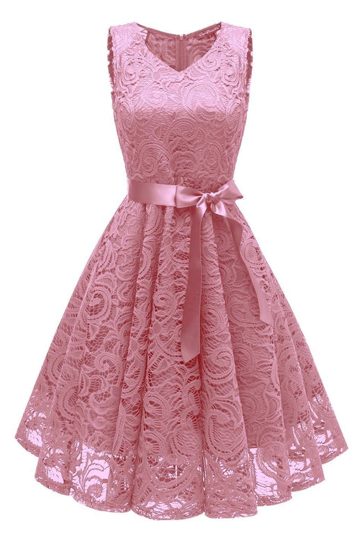 JJslove Women's 1940s Street Rockabilly Ball Gown Flared Dress - JJslove.com