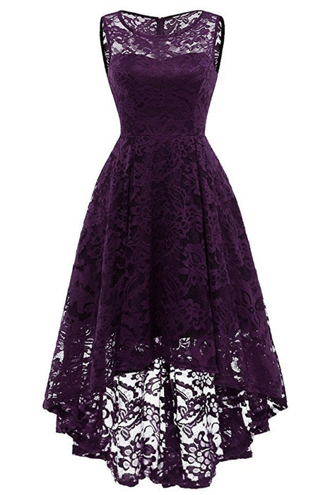 JJslove Women Floral Lace Bridesmaid Party Dress Short Prom Dress V Neck - JJslove.com