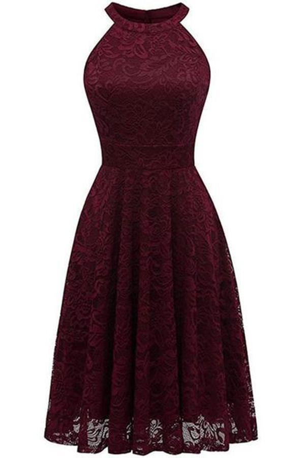 Street Floral Lace Off Shoulder Midi Dresses - JJslove.com