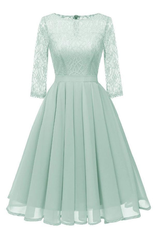Violet Purple Light Green Women Lace  Dresses - JJslove.com