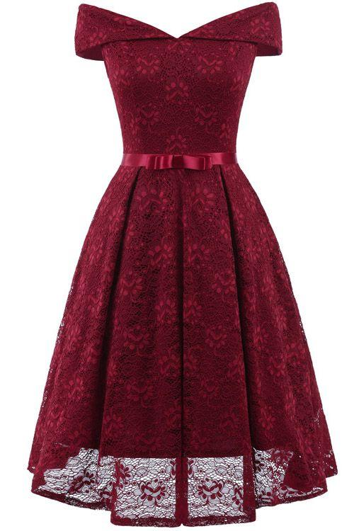 Jl1012 Red Christmas Party Dress | JJslove