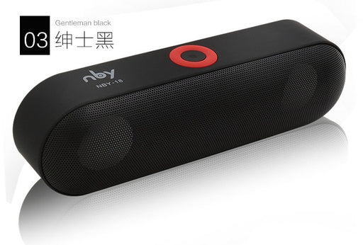 New NBY-18 Mini Bluetooth Speaker Portable Wireless Speaker Sound System 3D Stereo Music Surround Support Bluetooth,TF AUX USB - JJslove.com