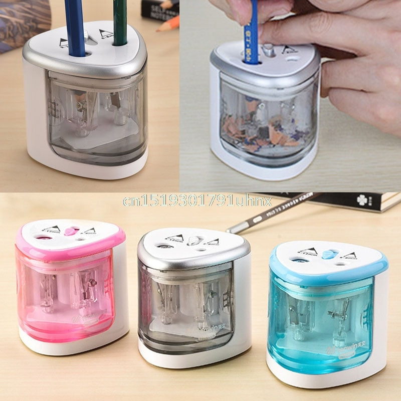 New Automatic Two-hole Electric Touch Switch Pencil Sharpener Home Office School - JJslove.com