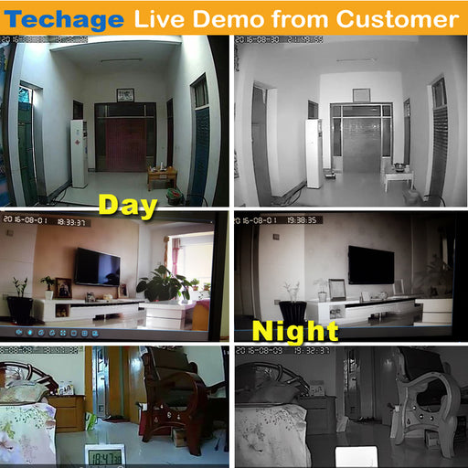 Techage 4CH 720P AHD DVR CCTV System 1.0MP 1200TVL IR Night Vision Indoor Outdoor Camera - JJslove.com