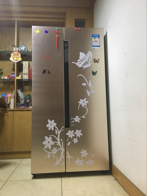 High Quality Creative Refrigerator Black Sticker Butterfly Pattern Wall Stickers Home Decoration - JJslove.com