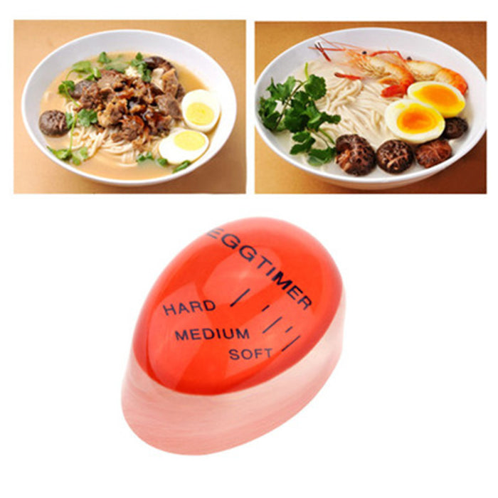 1pcs Egg Perfect Color Changing Timer Yummy Soft Hard Boiled Eggs Cooking Kitchen Resin Egg Timer - JJslove.com