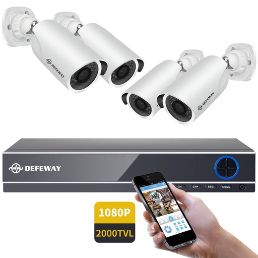 DEFEWAY 1080P HDMI DVR 2000TVL HD Outdoor Home Security Camera System - JJslove.com