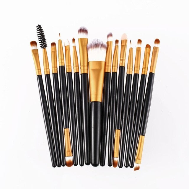 15pcs/set Makeup Brushes Sets Foundation Powder Eye Make Up Brush Beauty Tool - JJslove.com