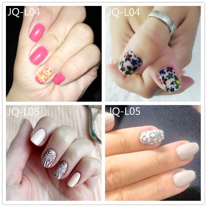 Nail Art Stamp Stamping Image Plate 6*12cm Stainless Steel Nail Template - JJslove.com