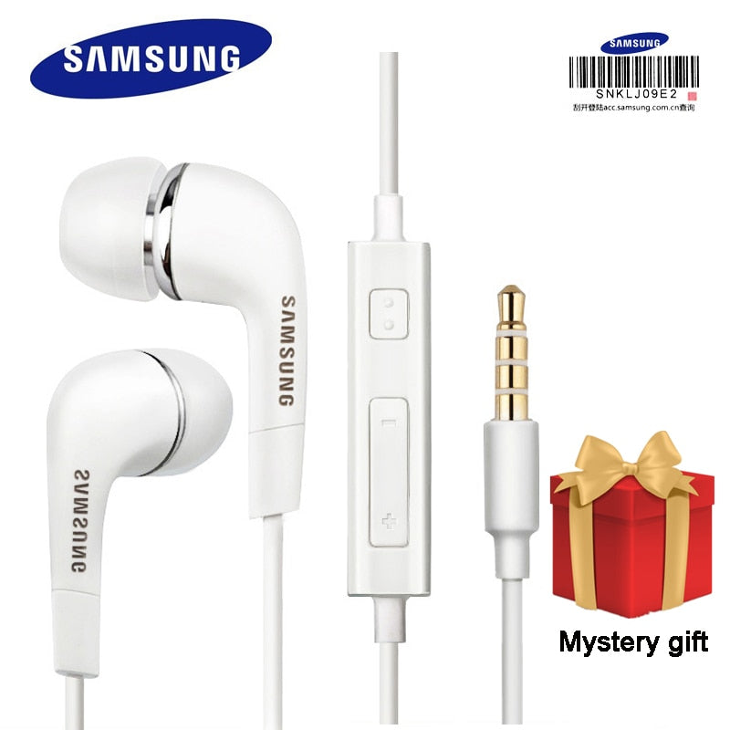 Samsung Earphones EHS64 Headsets With Built-in Microphone 3.5mm In-Ear Wired Earphone For Smartphones with free gift - JJslove.com