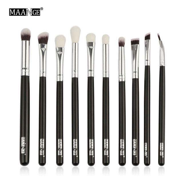 MAANGE 6/10pcs Makeup Brushes Set Pro Powder Eyeshadow Make Up Brush - JJslove.com
