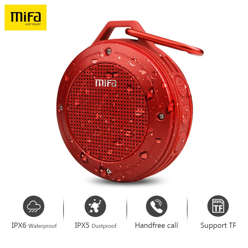 MIFA Wirless Bluetooth Speaker Built-in mic Bluetooth Stereo IXP6 Water-proof Outdoor Speaker With Bass Mini Portable Speaker - JJslove.com