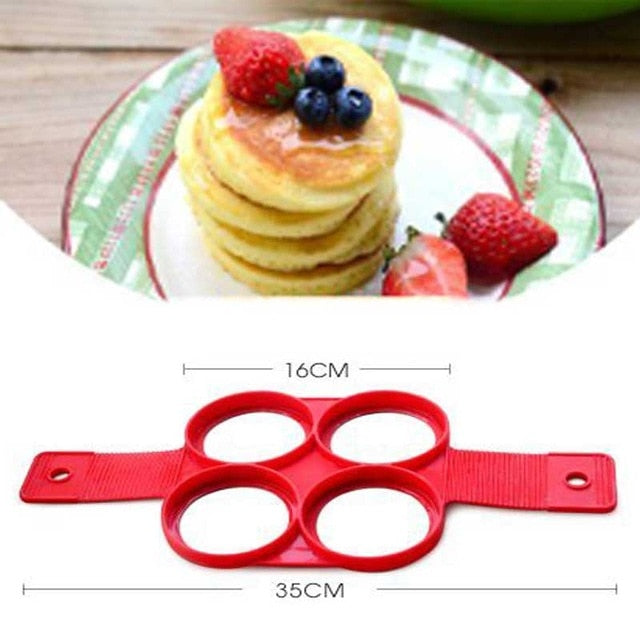 ANDES 1Pcs Silicone Non Stick Fantastic Egg Pancake Maker Ring Kitchen Baking Omelet Moulds flip cooker - JJslove.com