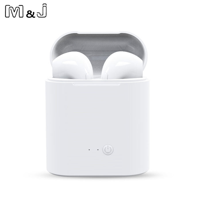 Hot Sell M&J i7s TWS Mini Wireless Bluetooth Earphone Stereo Earbud Headset With Charging Box Mic For All Smart phone - JJslove.com
