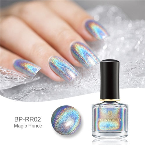 BORN PRETTY Deluxe Holographic Nail Polish 6ml Long Lasting Colorful Varnish Nail Art Polish - JJslove.com