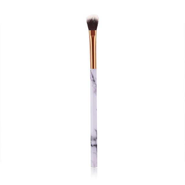 1/4 Pcs Women Marble Texture Marbling Handle Eyeshadow Brush Powder Blending Concealer - JJslove.com