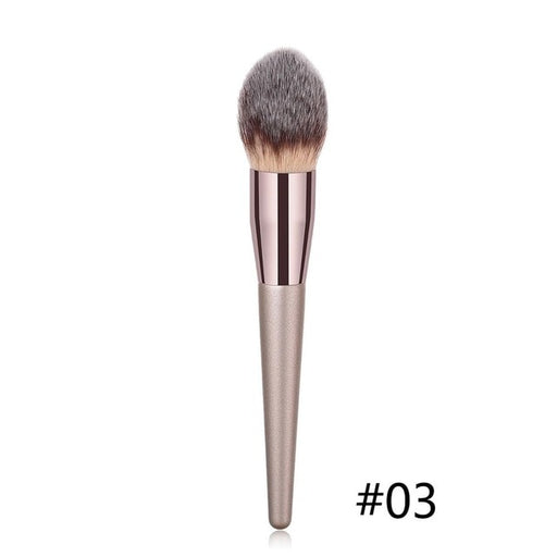 1PC Large Foundation Makeup Brushes Coffee Handle Very Soft Hair Blush Tools - JJslove.com