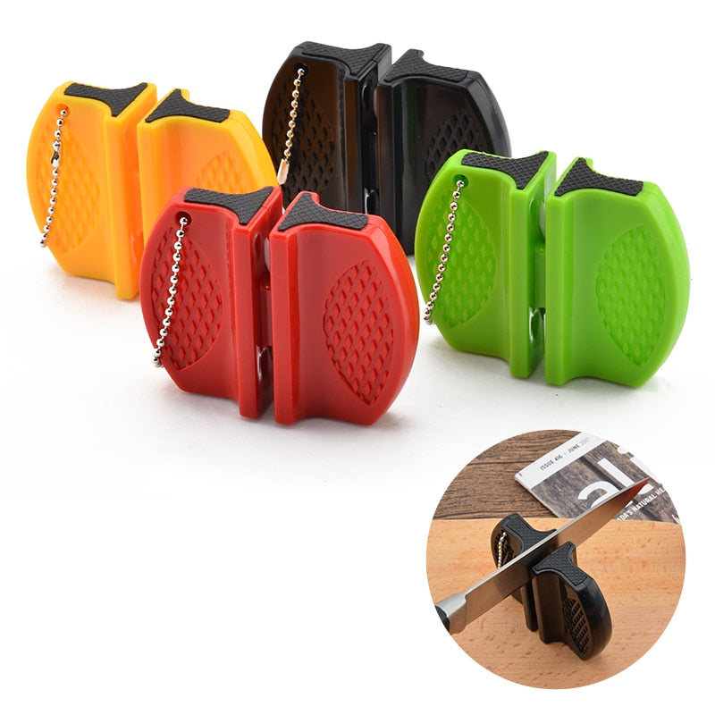 Portable Mini kitchen Knife Sharpener Kitchen Tools Accessories Camping Pocket Knife Sharpener - JJslove.com