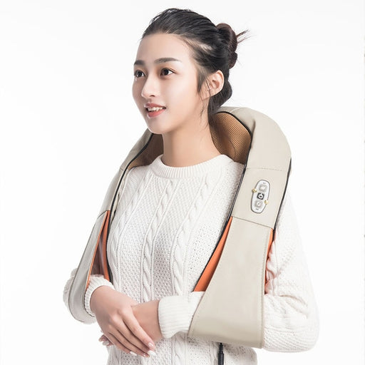 U Shape Electrical Back  Shoulder Body Neck  Massager  Infrared Heated Kneading - JJslove.com