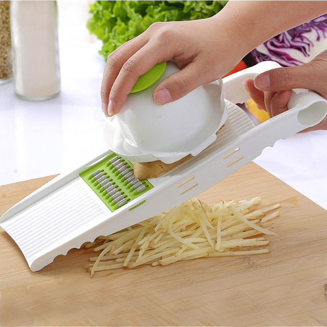 Myvit Vegetable Cutter with Steel Blade Mandoline Slicer Potato Peeler Kitchen Accessories - JJslove.com