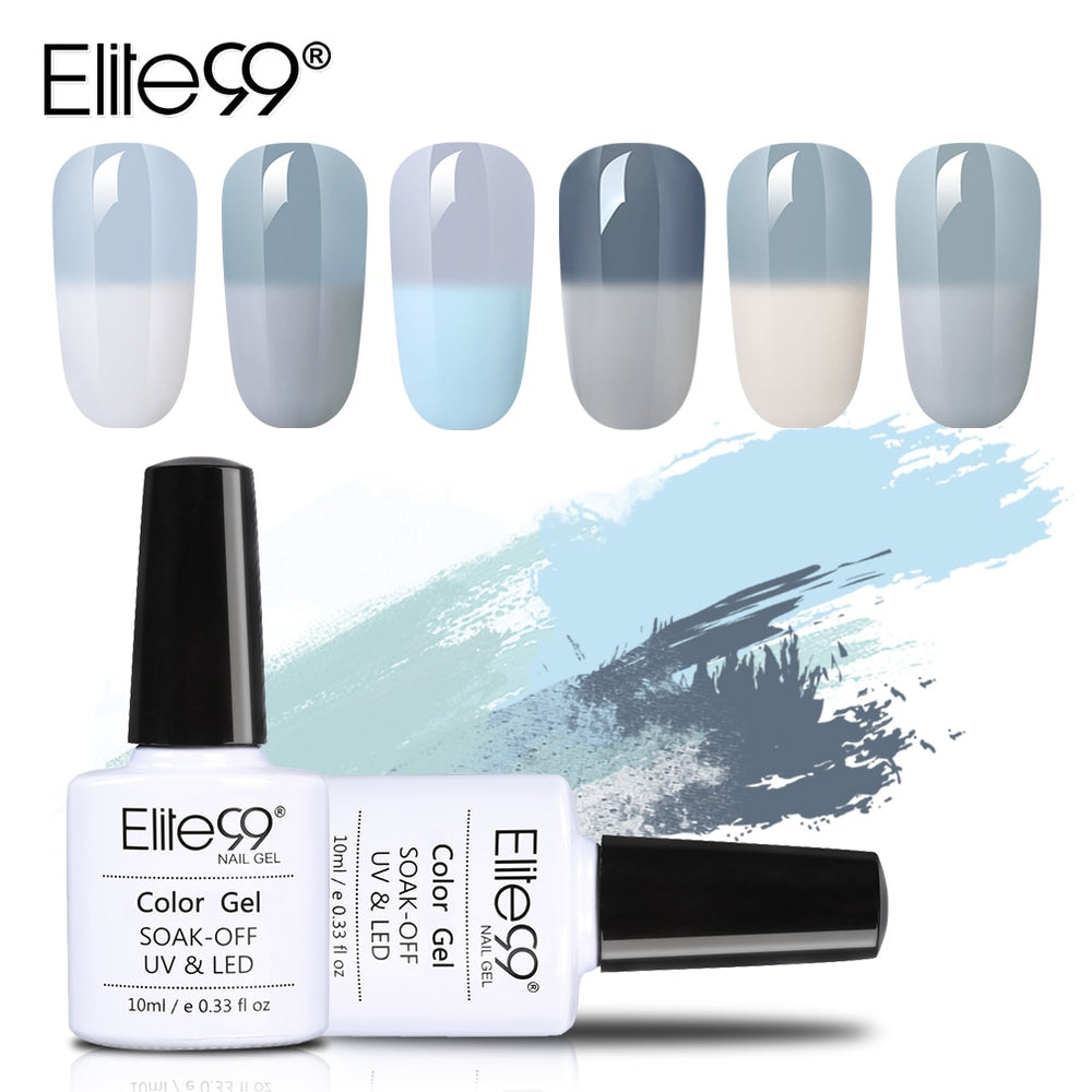 Elite99 Thermal Color Changing Grey Vernis UV Gel Nail Polish - JJslove.com
