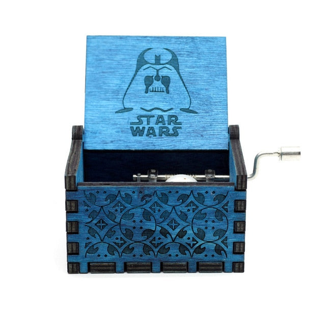 Black Star Wars Music Box  Game of Thrones Castle In The Sky Hand Cranked Wood music box - JJslove.com