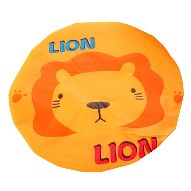 AsyPets Cute Cartoon Animal Waterproof Shower Cap Resuable Lace Elastic Band Bath - JJslove.com