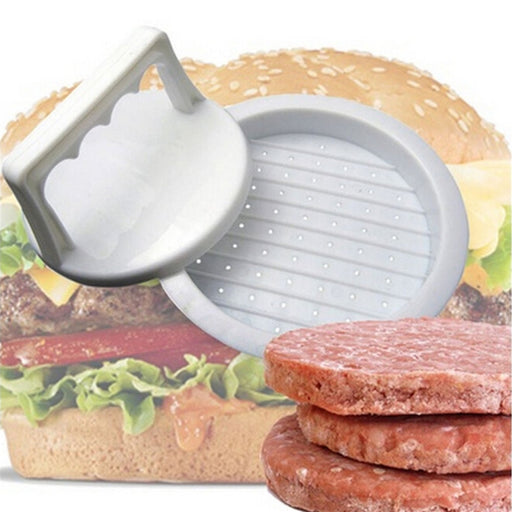 1 Set Round Shape Hamburger Press Food-Grade Plastic Hamburger Meat Beef Kitchen Tool - JJslove.com