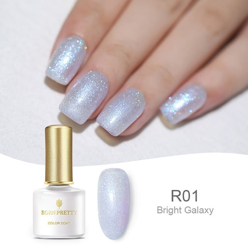 BORN PRETTY Holographic Laser Nail Gel 6ml Shimmer Glitter Colorful UV Gel Lacquer Holo Nail Varnish - JJslove.com