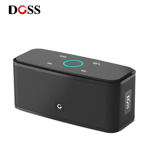 DOSS SoundBox Touch Control Bluetooth Speaker 2*6W Portable Wireless Speakers Stereo Sound Box with Bass and Built-in Mic - JJslove.com
