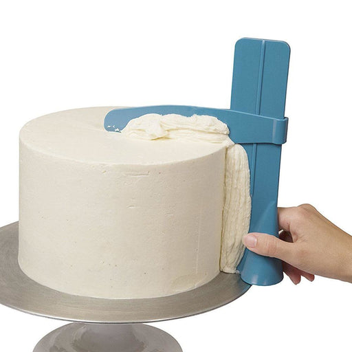 Cake Scraper Smoother Adjustable Fondant Spatulas Cake Edge Smoother Cream Decorating - JJslove.com