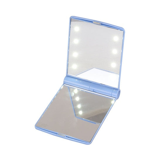 Makeup Mirror with 16 LEDs Cosmetic Mirror with Touch Dimmer Switch Battery - JJslove.com
