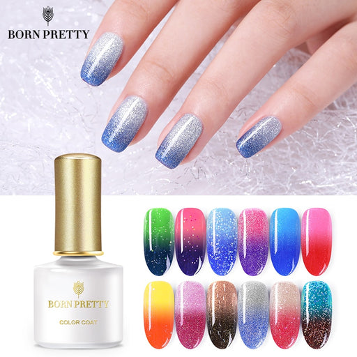 BORN PRETTY Thermal Nail Gel 6ml Temperature Color Changing Varnish Soak Off Nail Art - JJslove.com