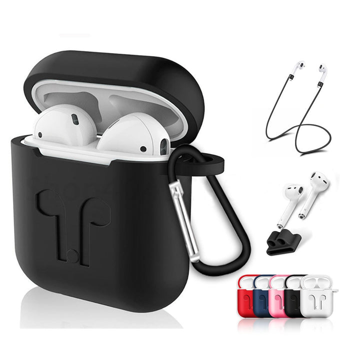 Soft Silicone Case For Airpods For Air Pods Shockproof Earphone Protective Cover Waterproof for iphone 7 8 Headset Accessories - JJslove.com
