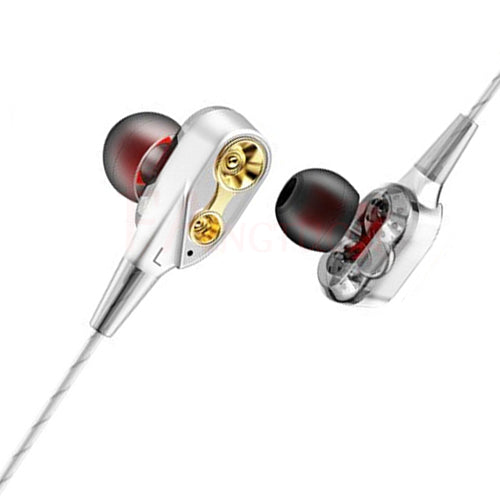 FANGTUOSI Dual Drive Stereo earphone In-ear Headset Earbuds Bass Earphones For iPhone huawei Xiaomi 3.5mm earphones With Mic - JJslove.com