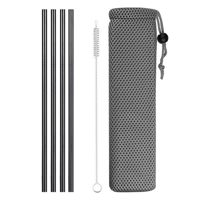 Reusable Metal Drinking Straws 304 Stainless Steel Sturdy Bent Straight Drinks Straw - JJslove.com