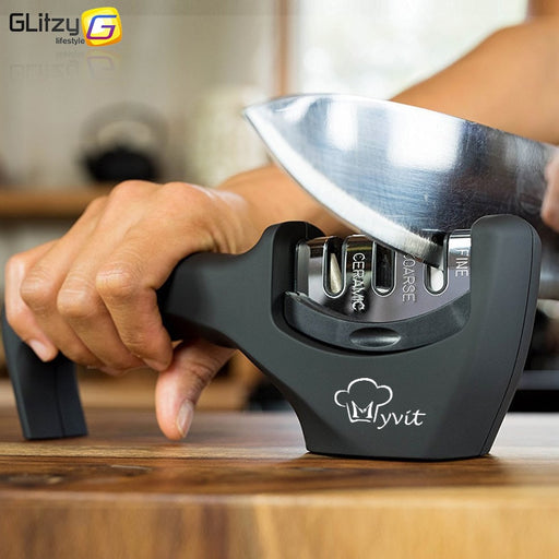 Knife Sharpener 3 Stages Professional Kitchen Sharpening Stone Grinder knives - JJslove.com